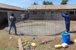 The Water Project: Gimarakwa Primary School -  Wire Wall Setting