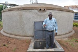The Water Project: Gimarakwa Primary School -  Mr Abunyu Celebrates The Rain Tank