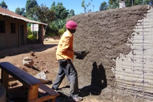 The Water Project: Saosi Primary School -  Outside Plastering
