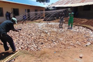The Water Project: Saosi Primary School -  Wire Reinforcement