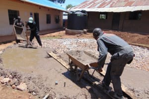 The Water Project: Saosi Primary School -  Concrete Placement