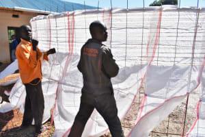 The Water Project: Saosi Primary School -  Sugar Sack Placing