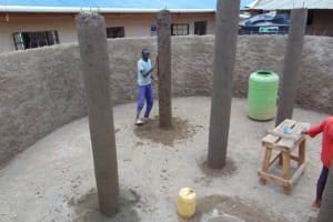 The Water Project: Saosi Primary School -  Pillar Placement