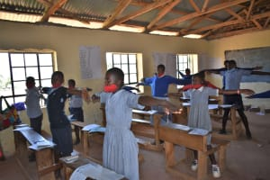The Water Project: Saosi Primary School -  Physical Distancing
