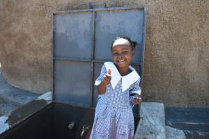 The Water Project: Saosi Primary School -  Thumbs Up At The Rain Tank