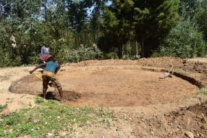 The Water Project: Shikomoli Primary School -  Tank Excavation Process