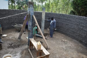 The Water Project: Shikomoli Primary School -  Pillar Placement