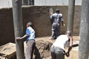 The Water Project: Shikomoli Primary School -  Tank Plaster Works Inside