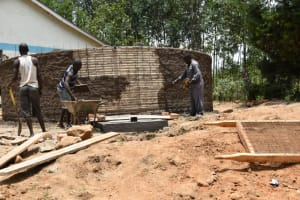 The Water Project: Shikomoli Primary School -  Plaster Works Outside