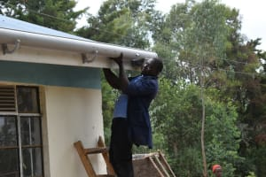 The Water Project: Shikomoli Primary School -  Guttering Works