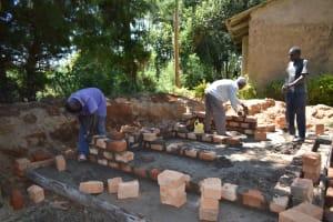 The Water Project: Shikomoli Primary School -  Latrine Brick Works