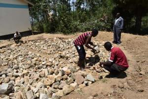 The Water Project: Shikomoli Primary School -  Foundation Work