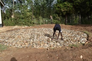 The Water Project: Shikomoli Primary School -  Wire Foundation Reinforcement