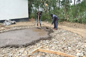 The Water Project: Shikomoli Primary School -  Tank Foundation Setting