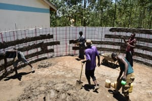 The Water Project: Shikomoli Primary School -  Plastering Works Inside