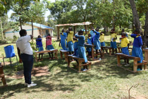 The Water Project: Shikomoli Primary School -  Coughing Demonstration
