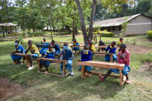 The Water Project: Shikomoli Primary School -  Students At Training Venue
