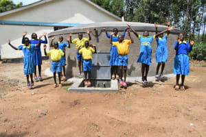 The Water Project: Shikomoli Primary School -  Students Jump For Joy
