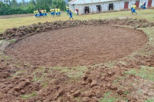 The Water Project: Isikhi Primary School -  Excavated Area For Rain Tank