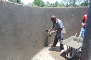 The Water Project: Isikhi Primary School -  Plastering Inside