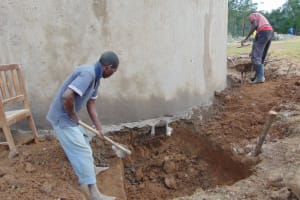 The Water Project: Isikhi Primary School -  Drawing Point Construction