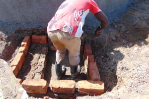 The Water Project: Isikhi Primary School -  Constructing The Drawing Point