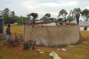 The Water Project: Isikhi Primary School -  Dome Setting