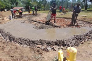 The Water Project: Isikhi Primary School -  Concrete Placement