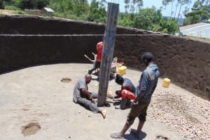 The Water Project: Isikhi Primary School -  Pillar Placement