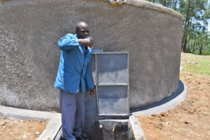 The Water Project: Isikhi Primary School -  A Teacher Enjoying Water