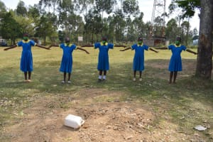 The Water Project: Isikhi Primary School -  Demonstrating Physical Distancing