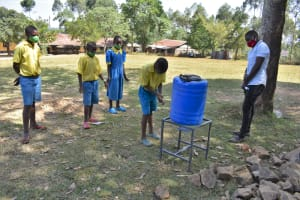 The Water Project: Isikhi Primary School -  Students Demonstrating How To Wash Hands