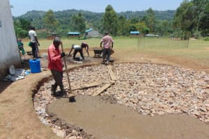 The Water Project: Galona Primary School -  Concrete Placement