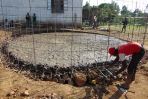 The Water Project: Galona Primary School -  Pipe System Setting