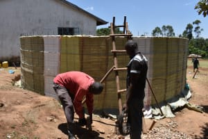 The Water Project: Galona Primary School -  Sack Placing