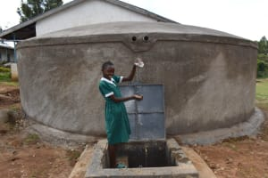 The Water Project: Galona Primary School -  Celebrating At The Rain Tank