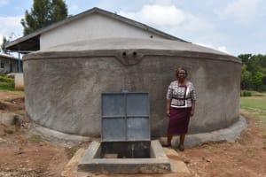 The Water Project: Galona Primary School -  Head Teacher Margret Andaye