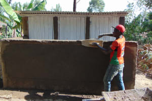 The Water Project: Galona Primary School -  Latrine Construction