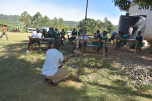 The Water Project: Galona Primary School -  Making A Sample Kitchen Garden