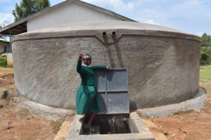 The Water Project: Galona Primary School -  Valentine Raises A Cheers To Clean Water At School