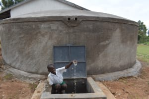 The Water Project: Galona Primary School -  Enjoying Water