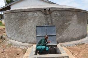 The Water Project: Galona Primary School -  Having Fun With Water At The Rain Tank