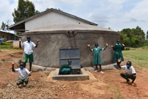 The Water Project: Galona Primary School -  Pupils Celebrate At The Water Tank