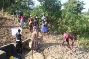 The Water Project: Mwitwa Community, Matiang'i Spring -  Site Management Training
