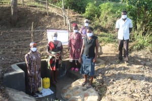 The Water Project: Mwitwa Community, Matiang'i Spring -  Community Members Posing At The Spring