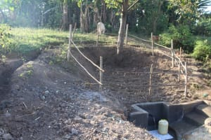 The Water Project: Mwitwa Community, Matiang'i Spring -  Protected Spring