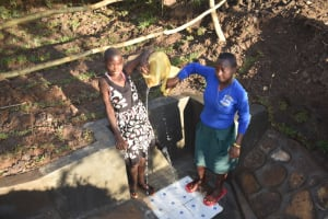 The Water Project: Khaunga A Community, Murutu Spring -  Celebrating Water By Splashing It