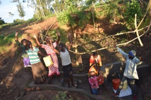 The Water Project: Khaunga A Community, Murutu Spring -  Cheers At The Completed Spring