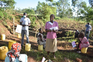 The Water Project: Khaunga A Community, Murutu Spring -  Everline Discusses Toothbrushing
