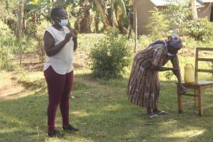 The Water Project: Mwitwa Community, Matiang'i Spring -  Handwashing